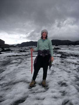 Alex Plows on glacier